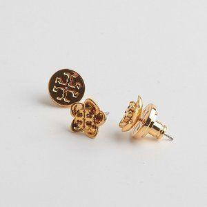 Tory Burch Golden Flower Stud Earrings